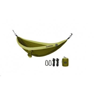 Naturehike hamaka DC-02 pro 1-2 osoby s nafukovacími lemy - zelená