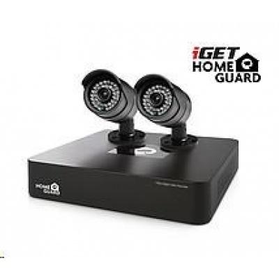 iGET HOMEGUARD HGDVK46702 Kamerový systém, 4-kanálový rekordér HD DVR + 2x HD kamera 720p