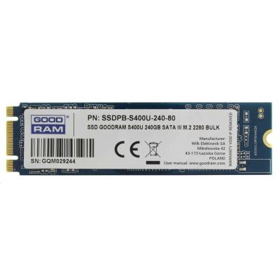 GOODRAM SSD S400U 240GB M.2 2280  (R:550/ W:530MB/s)