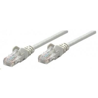 Intellinet patch kabel, Cat6 Certified, CU, UTP, PVC, RJ45, 10m, šedý
