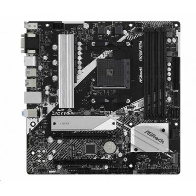 ASRock MB Sc AM4 A520M PRO4, AMD A520, 4xDDR4, HDMI, DP