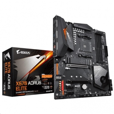 GIGABYTE MB Sc AM4 X570 AORUS ELITE, AMD X570, 4xDDR4, VGA