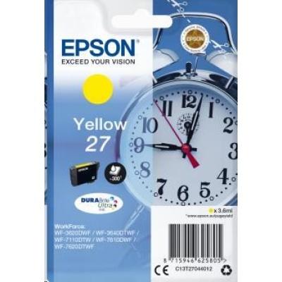"EPSON ink bar Singlepack ""Budík"" Yellow 27 DURABrite Ultra Ink"