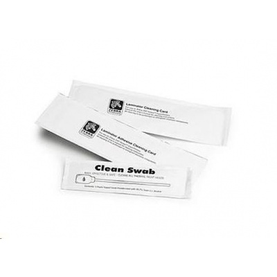 Zebra cleaning cards, 5 cards