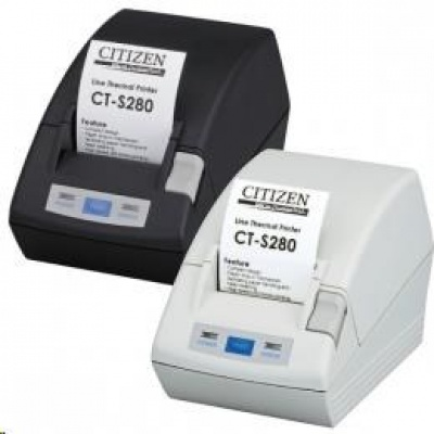 Citizen CT-S281L, USB, 8 dots/mm (203 dpi), cutter, white
