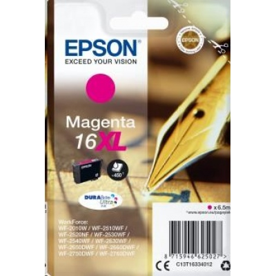 "EPSON ink bar Singlepack ""Pero"" Magenta 16XL DURABrite Ultra Ink"