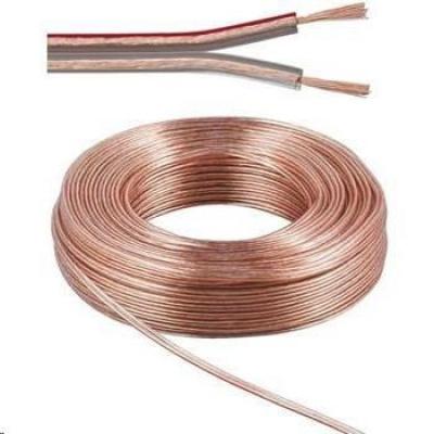 PremiumCord Kabely na propojení reprosoustav 100% CU měď 2x 0,75mm 10m