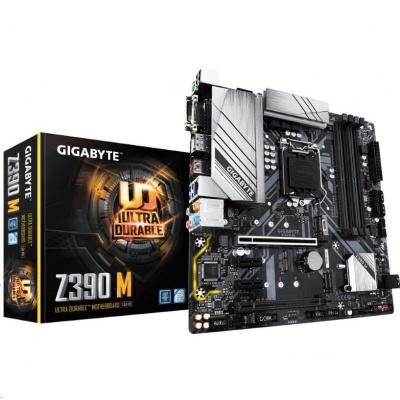 GIGABYTE MB Sc LGA1151 Z390 M, Intel Z390, 4xDDR4, VGA, mATX
