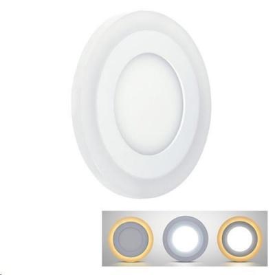 Solight LED podsvícený panel, podhledový, 18W+6W, 1530lm, 4000K, kulatý