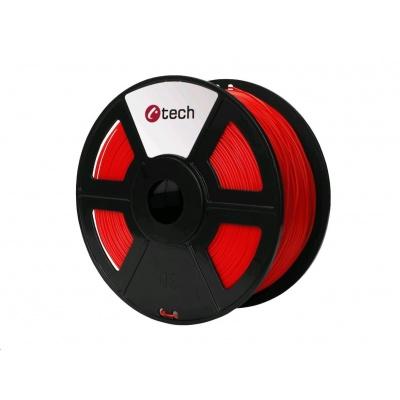 C-TECH Tisková struna (filament) PETG, 1,75mm, 1kg, červená