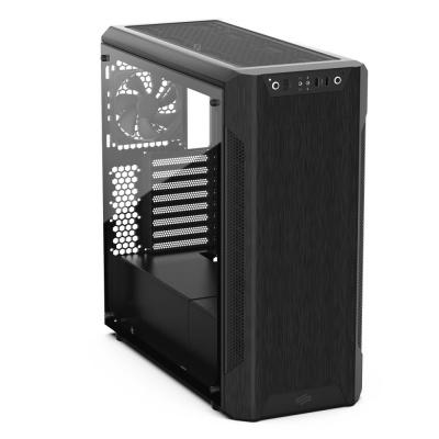 SilentiumPC skříň MidT Armis AR7 TG Black / 2x USB 3.0 / 3x 120mm fan / bočnice z tvrzeného skla / černá