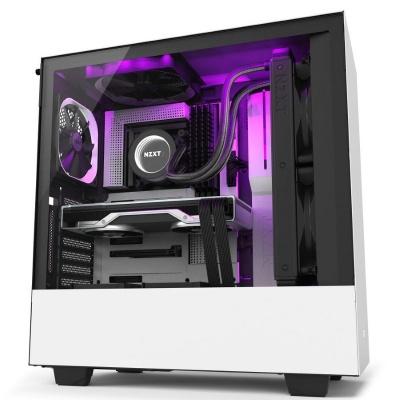 NZXT skříň H510i / ATX / průhledná bočnice / USB 3.0 / USB-C 3.1 / RGB LED / Smart case s intel. funkcemi / bílá
