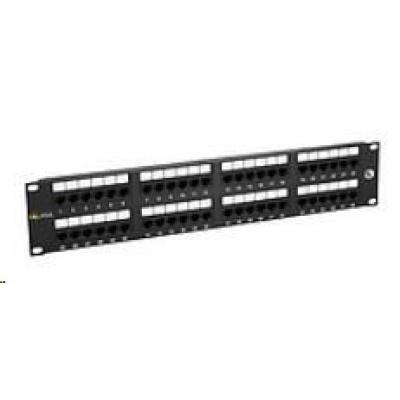 Solarix Patch panel 48 x RJ45 CAT5E UTP 150 MHz černý 2U SX48-5E-UTP-BK