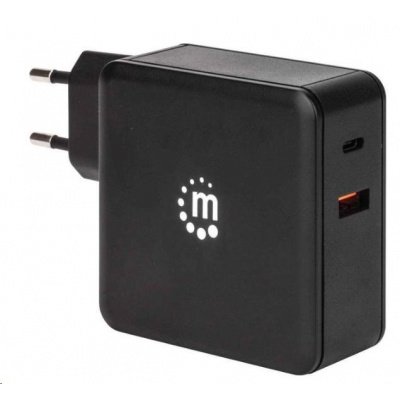 MANHATTAN USB nabíječka Power Delivery Wall Charger – 45 W, černá