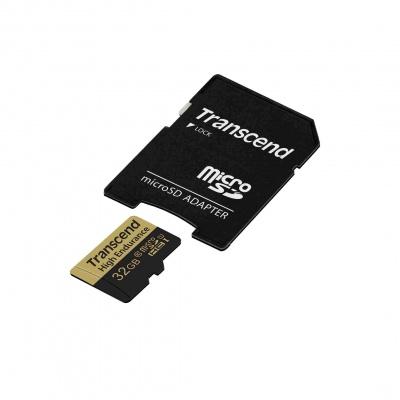 TRANSCEND MicroSDHC karta 32GB Video Recording, U1 + adaptér