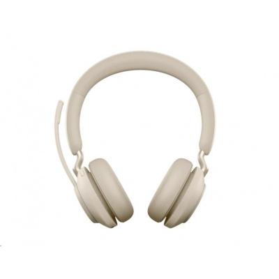 Jabra náhlavní souprava Evolve2 65, Link 380c MS, stereo, béžová