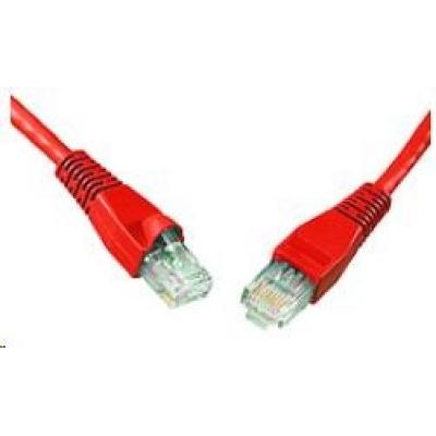 Solarix Patch kabel CAT5E UTP PVC 10m červený snag-proof C5E-114RD-10MB