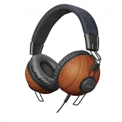 TRUST sluchátka Noma headphones - denim wood