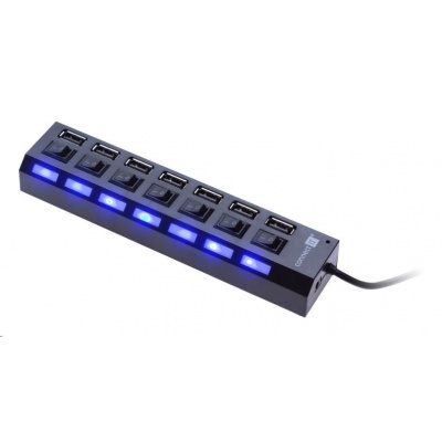 CONNECT IT USB hub Mighty switch, 7 ON/OFF portů