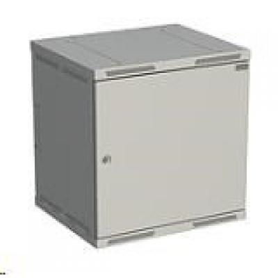 Solarix rozvaděč nástěnný SENSA 12U 500mm, dveře plech, RAL 7035 SENSA-12U-65-21-G