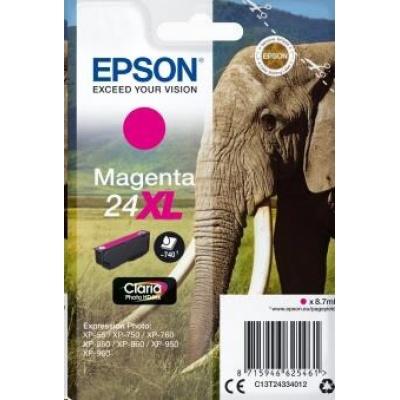 "EPSON ink bar Singlepack ""Slon"" Magenta 24XL Claria Photo HD Ink"