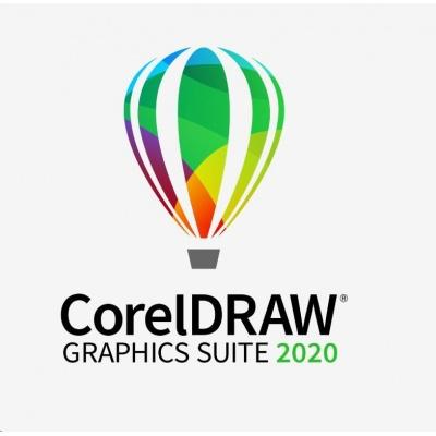 CorelDRAW GS 2020 ENT Lic - includes 1 Yr CorelSure MAINT (51-250) EN/DE/FR/ES/BR/IT/CZ/PL/NL