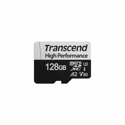 TRANSCEND MicroSDXC karta 128GB 330S, UHS-I U3 A2 + adaptér