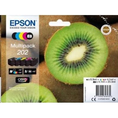 """EPSON ink Multipack """"Kiwi"""" 5-colours 202 Claria Premium Ink"""