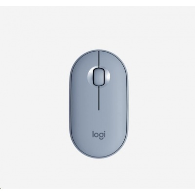 Logitech Pebble Wireless Mouse M350, modrošedá