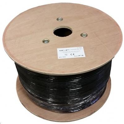 S/FTP kabel LEXI-Net, Cat7, dvojitý LS0H+PE, černý, 500m, cívka