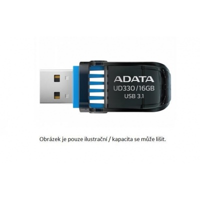 ADATA Flash Disk 128GB UD330, USB 3.1 Dash Drive, černá