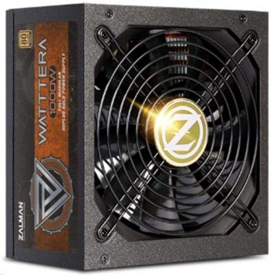 ZALMAN zdroj WATTTERA ZM1000-EBTII - 1000W 80+ Gold, 13,5cm fan, modular