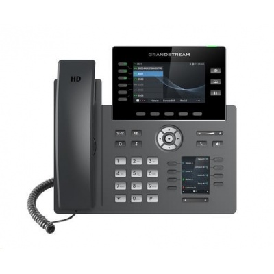 Grandstream GRP2616 [VoIP telefon - 6x SIP účet, HD audio, 48 prog.tl+6 předvoleb, 2xLAN 1Gbps, WiFi,USB,Bluetooth,PoE]