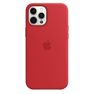 APPLE iPhone 12 Pro Max Silicone Case with MagSafe - (PRODUCT) Red