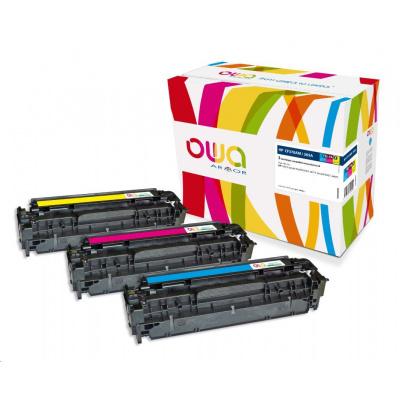 OWA Armor toner pre HP Color Laserjet pre300 M351, M375, pre400 M451, M475, 3x2600 strán, CF370AM, C+M+Y