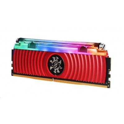 DIMM DDR4 16GB 3200MHz CL16 (KIT 2x8GB) ADATA SPECTRIX D80 RGB, Hybrid Cooling, Single Box, Red
