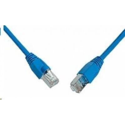 Solarix Patch kabel CAT5E SFTP PVC 7m modrý snag-proof C5E-315BU-7MB