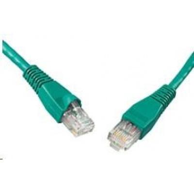 Solarix Patch kabel CAT5E UTP PVC 10m zelený snag-proof C5E-114GR-10MB