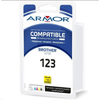ARMOR cartridge pro BROTHER MFC J 4510, Yellow 10ml, (LC123Y)