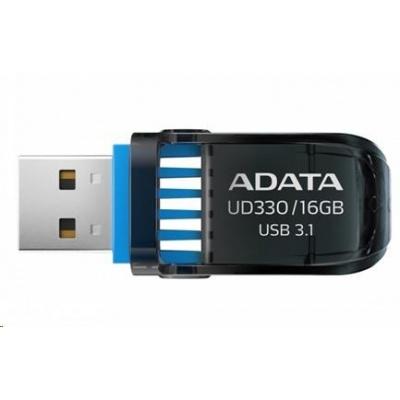 ADATA Flash Disk 16GB UD330, USB 3.1 Dash Drive, černá