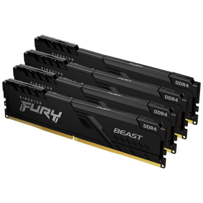 DIMM DDR4 64GB 3200MHz CL16 (Kit of 4) 1Gx8 KINGSTON FURY Beast Black
