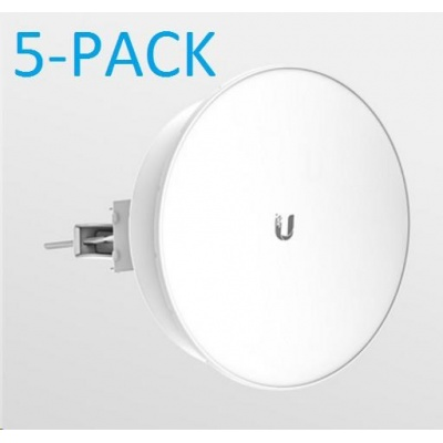 UBNT airMAX PowerBeam M5 ISO 2x22dBi, 5-PACK [300mm, Client/AP/Repeater, 5GHz, 802.11a/n, 10/100 Ethernet]