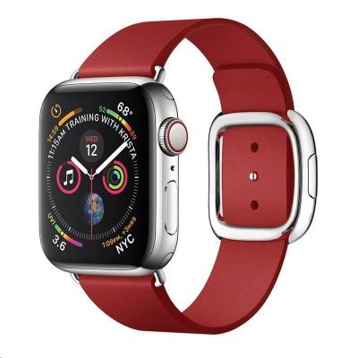 COTEetCI kožený magnetický řemínek Nobleman pro Apple Watch 42 / 44mm červená