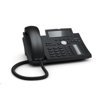 Snom IP telefon D345, 12 SIP, grafický displej, 10/100/1000 Mbps, Wi-Fi, USB, PoE