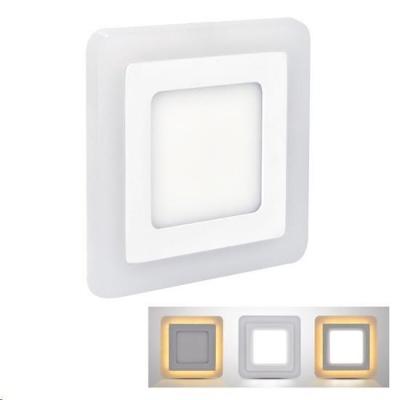 Solight LED podsvícený panel, podhledový, 18W+6W, 1530lm, 4000K, čtvercový