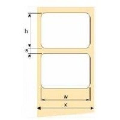 OEM samolepící etikety 75mm x 50mm, bílý papír, cena za 1000 ks