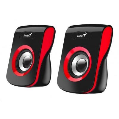 """GENIUS repro SP-Q180 Red, 2.0, 6W, USB napájení, 3,5"""" jack, černo-červené"""
