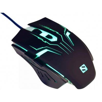 Sandberg optická herní myš Eliminator, 2400dpi, černá