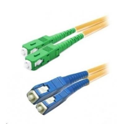 Duplexní patch kabel SM 9/125, OS2, SC(APC)-SC(PC), LS0H, 1m