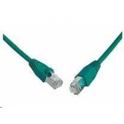Solarix Patch kabel CAT5E SFTP PVC 3m zelený snag-proof C5E-315GR-3MB